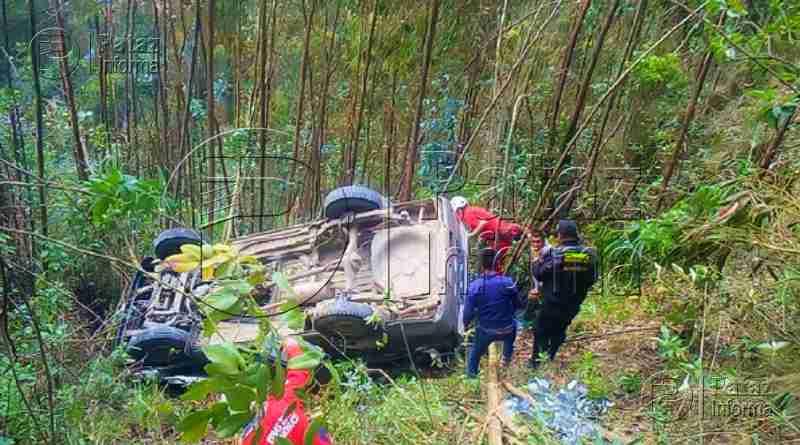 Camioneta cayó a abismo dejando 03 heridos graves en Chilia