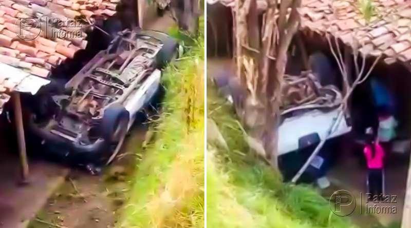 Camioneta de la policía sufrió accidente en la sierra liberteña