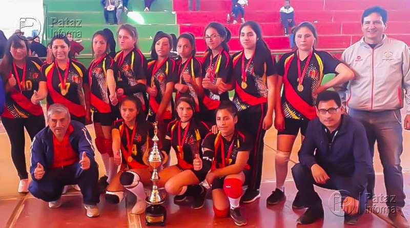 Equipo de vóley de Parcoy sub 17 se coronó campeón provincial