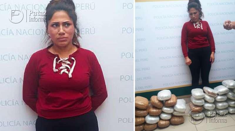 """Detienen a mujer con 20 paquetes, tipo """"ladrillo"""", de marihuana"""