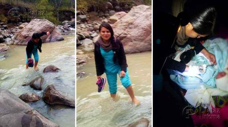 Enfermera caminó y cruzó un río para vacunar a recién nacido