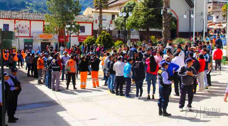 Masiva participación de simulacro de sismo en Tayabamba