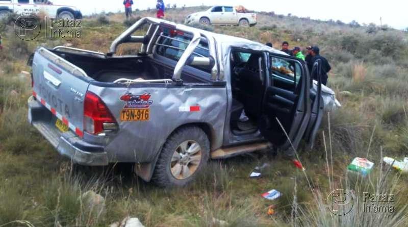 Accidente en la ruta Huamachuco – Pataz deja tres heridos