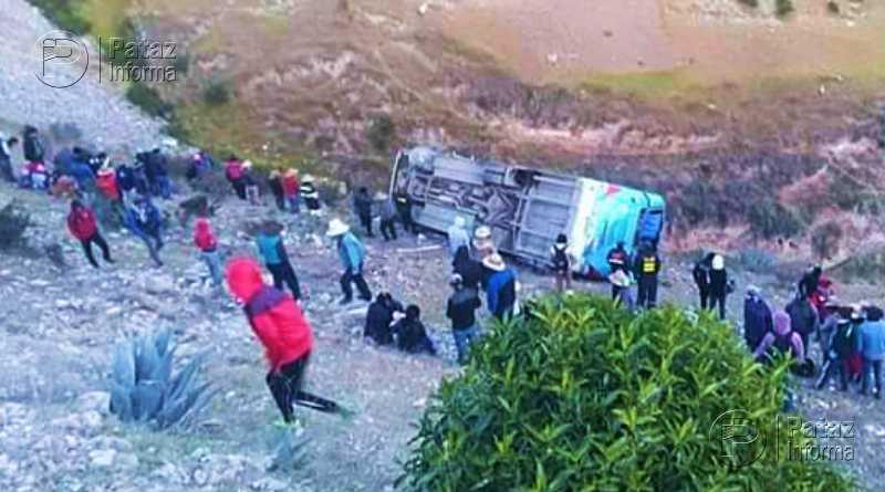 Bus cae a abismo dejando varios heridos en la sierra peruana