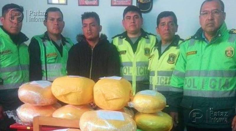 Detienen a 04 sujetos con 36 kilos de marihuana en la sierra