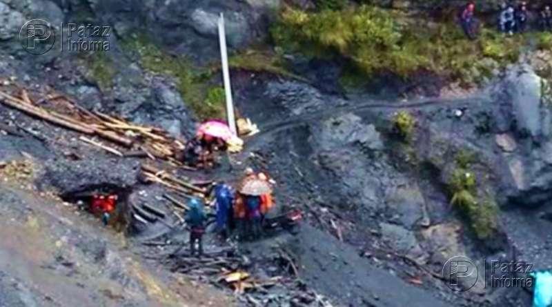 Dos fallecidos deja nuevo derrumbe de una mina en el ande