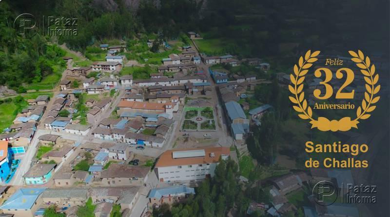 Santiago de Challas celebrará 32 años de creación política
