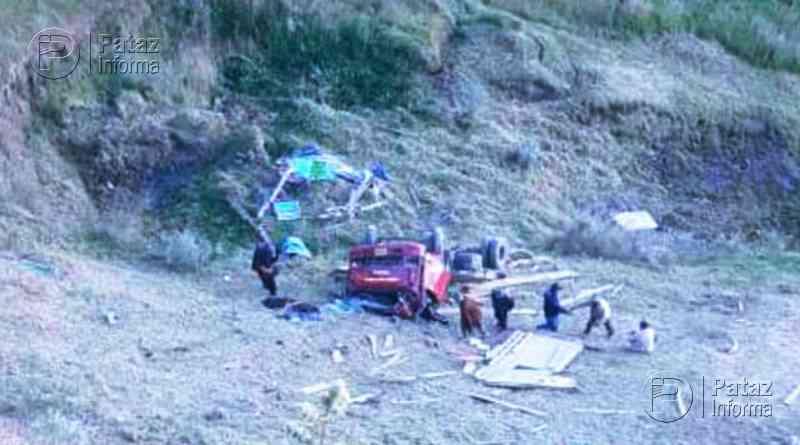 Camión cae a abismo y deja 2 heridos en la sierra liberteña
