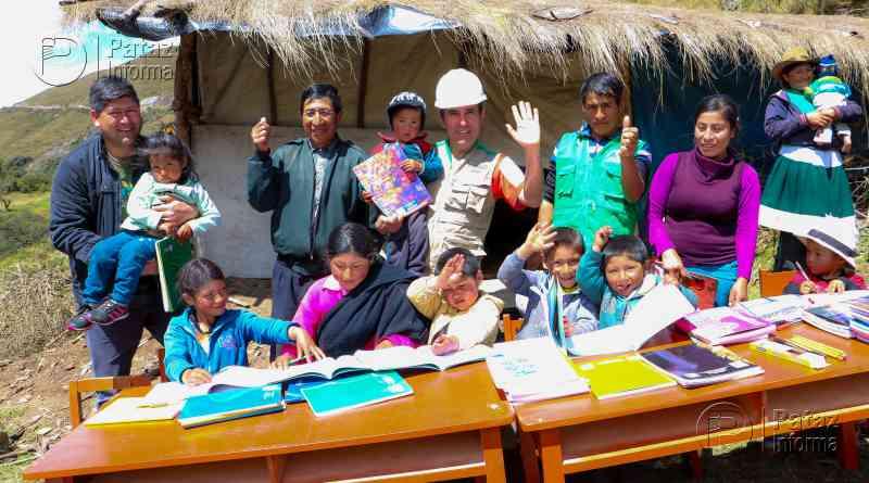 Niños de Mulatambo inician clases en I.E. Justiniano Paredes