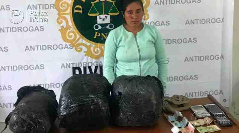 Cae mujer con 7 kilos de droga por paradero al ande liberteño