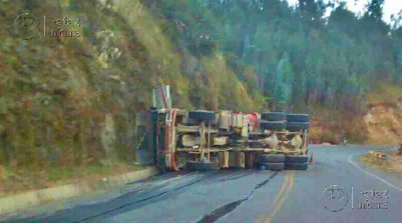 Camión sufre accidente de tránsito en la sierra liberteña