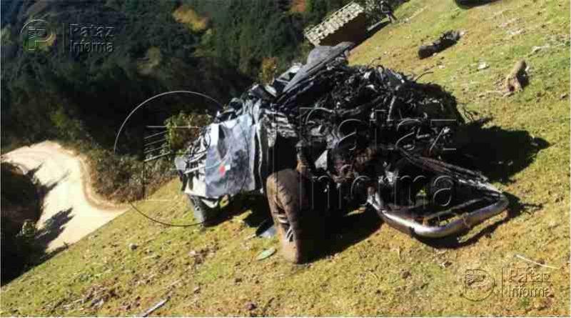 Camioneta cae a abismo en la ruta Huamachuco – Pataz