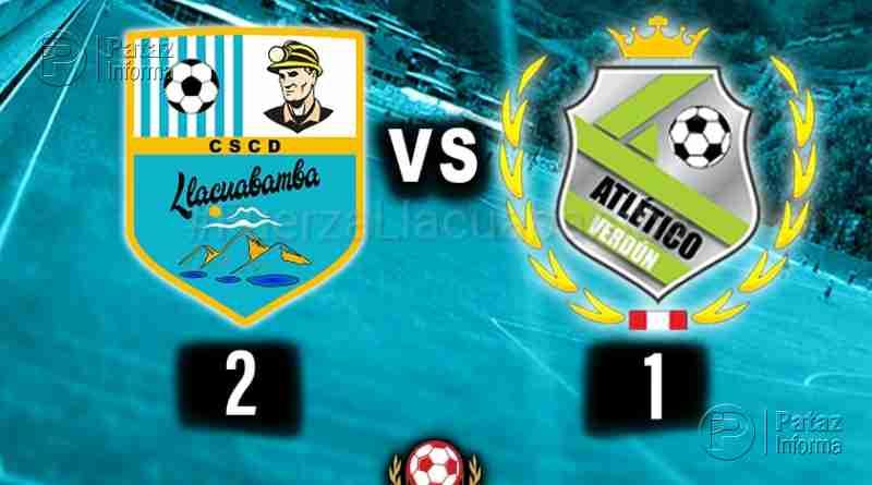 Deportivo Llacuabamba con garra ganó por 2 a 1 al Verdún
