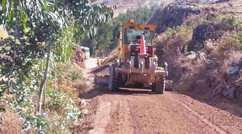 Reinician trabajos en el tramo vial Alto Challas – Mamahuaje