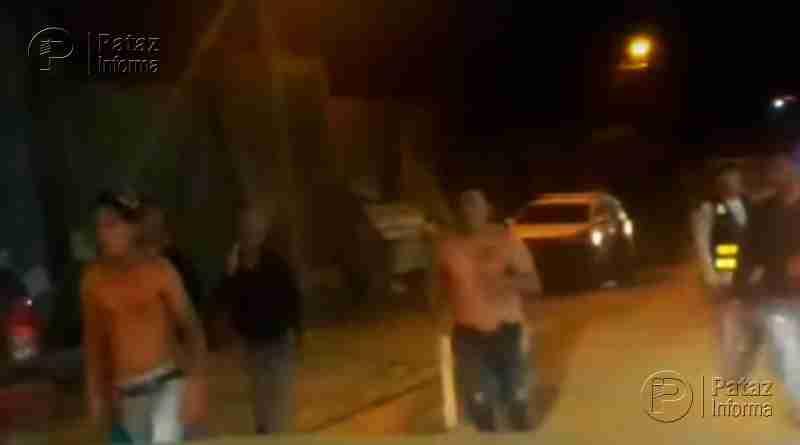 Extranjeros se enfrentan con piedras y palos en Pataz