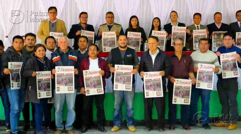 Nueva forma de informar. Presentan periódico en Tayabamba