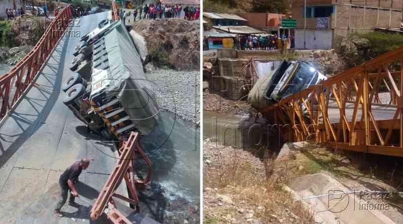 Puente colapsa y se interrumpe el pase Huamachuco – Pataz