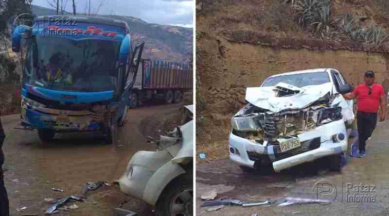 Violento choque vía Huamachuco – Pataz deja dos heridos