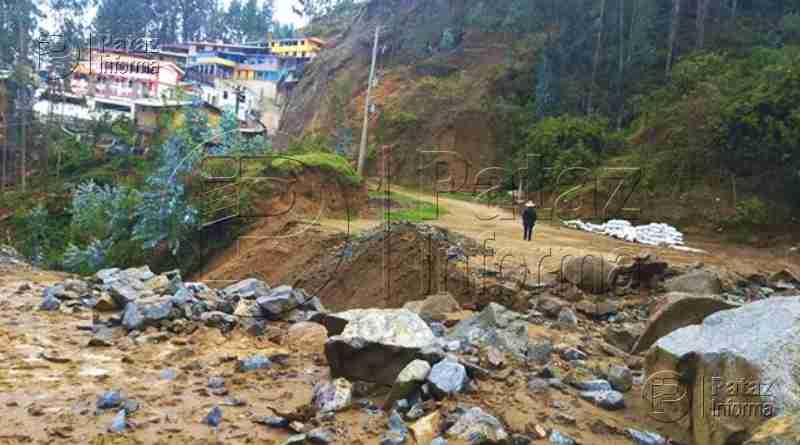 Fuertes lluvias dejan incomunicado al anexo de Socorro en Pataz