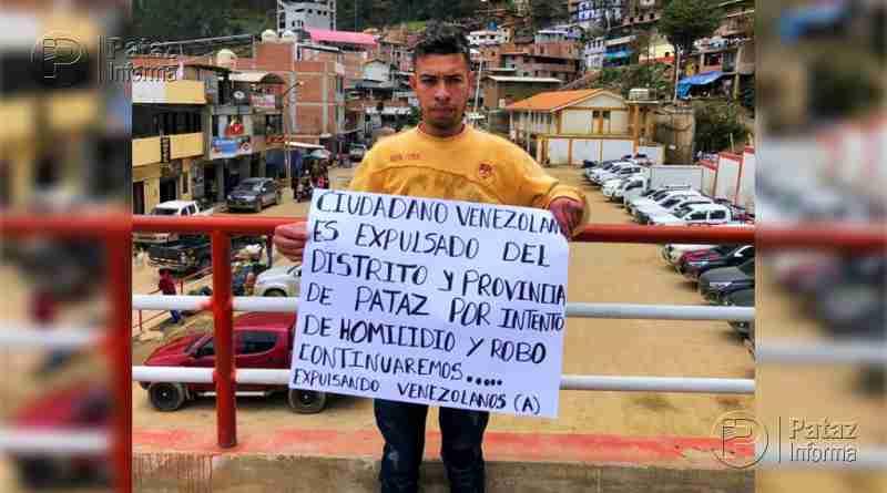 Expulsan a venezolano por intento de homicidio y robo en Pataz