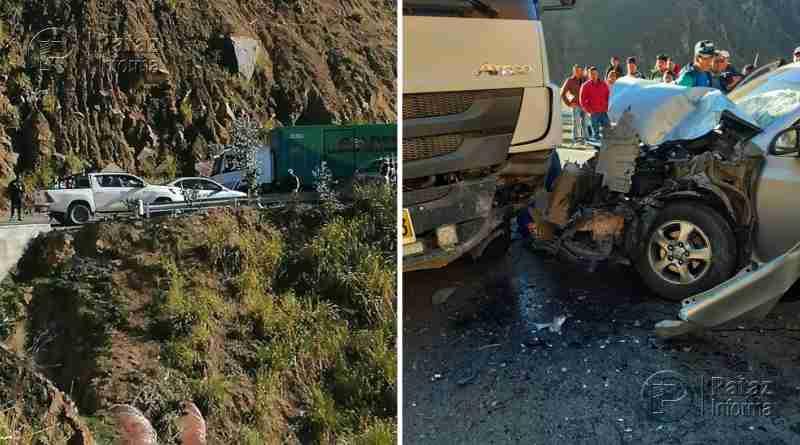 04 heridos deja violento choque en la ruta Trujillo – Huamachuco