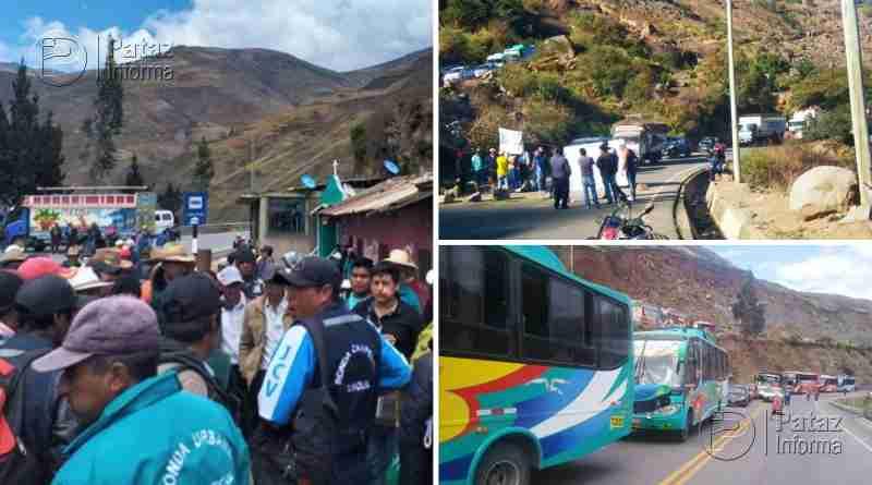 Bloquean vía hacia Pataz y demás provincias del ande liberteño