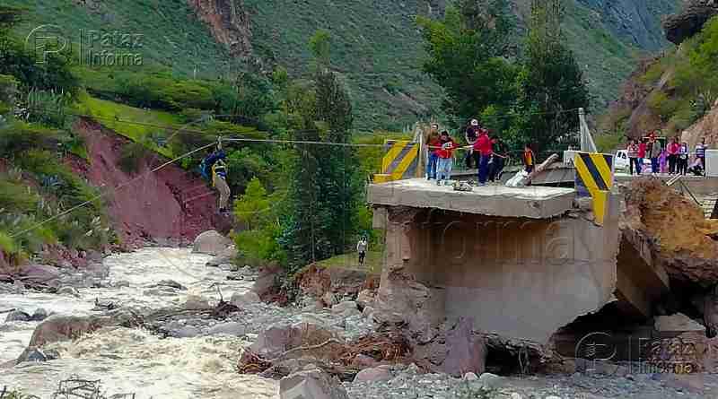 Trasladan puente Bailey para ser instalado en el sector Chacas