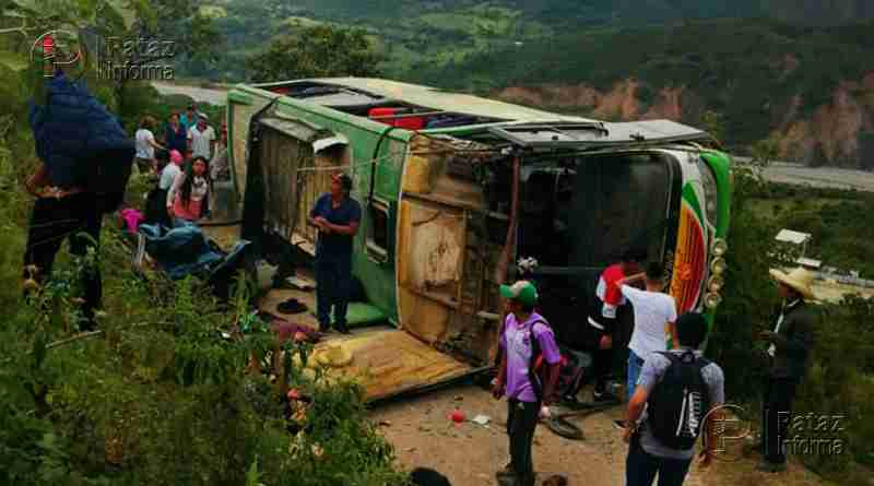 Bus interprovincial sufrió accidente en la sierra liberteña