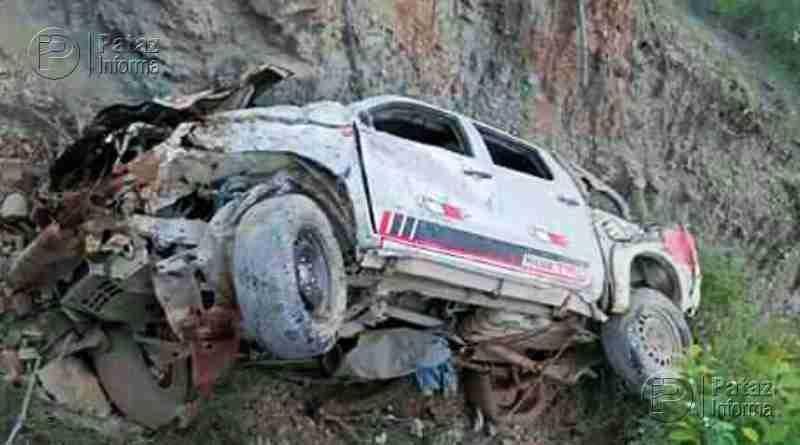 Camioneta sufrió accidente de tránsito vía Huamachuco – Pataz