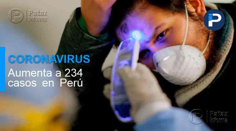 Aumenta a 234 los casos de coronavirus COVID-19 en el Perú