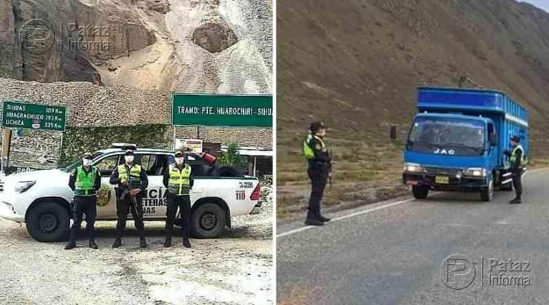 Cierran pase vehicular en la ruta Trujillo – Tayabamba vía Sihuas