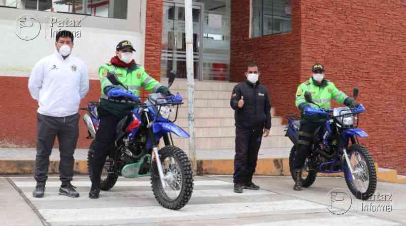 Donan 02 motocicletas a PNP de la comisaría de Tayabamba