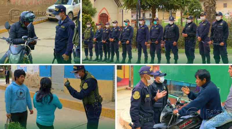 En Tayabamba realizan operativos para cumplir estado de emergencia