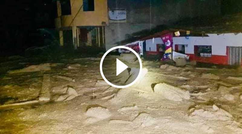 Huayco arrasó con viviendas y puente en la provincia de Pataz