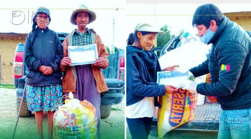 Inician entrega de canastas a más de 1500 familias en Tayabamba