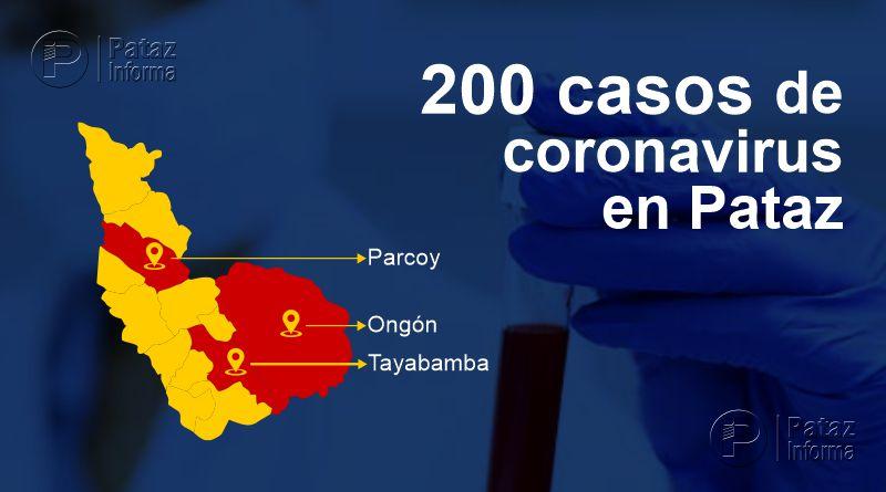 Confirman 200 casos positivos por Covid-19 en la provincia de Pataz