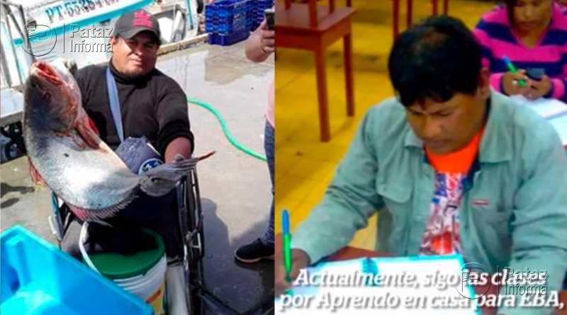 Pescador de 40 años estudia la primaria porque desea ser ingeniero