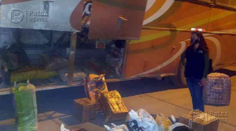 Bus que partió de Tayabamba fue intervenido por Policía en sihuas