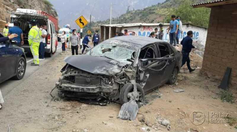 Accidente deja al menos seis heridos en carretera a la sierra liberteña
