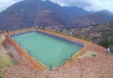 Pataz culminará el año con 1200 reservorios para agricultores